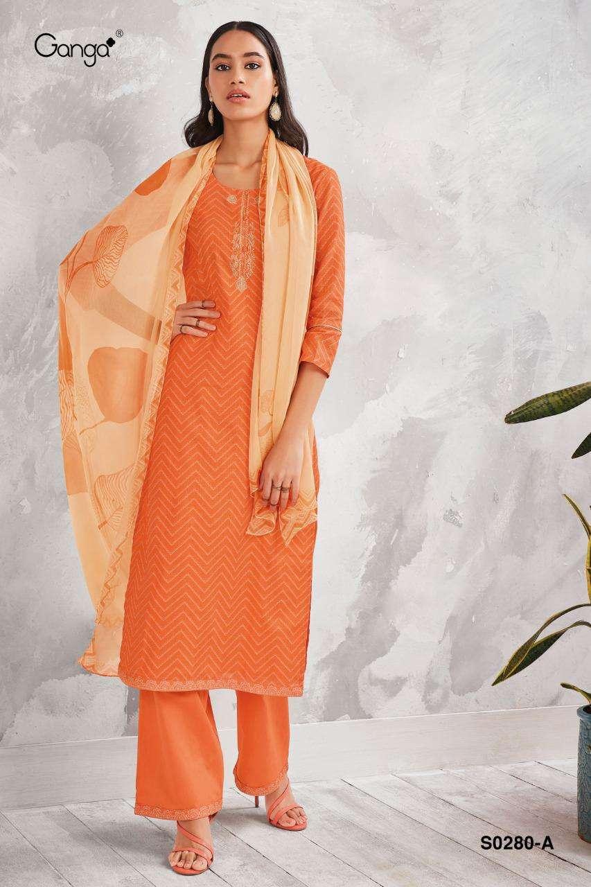 Ganga Rewa 280 Cotton Linen Wholesale Suits Supplier