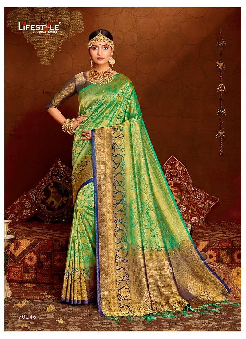 Lifestyle Ananya Nylon Silk Designer Fancy Sarees