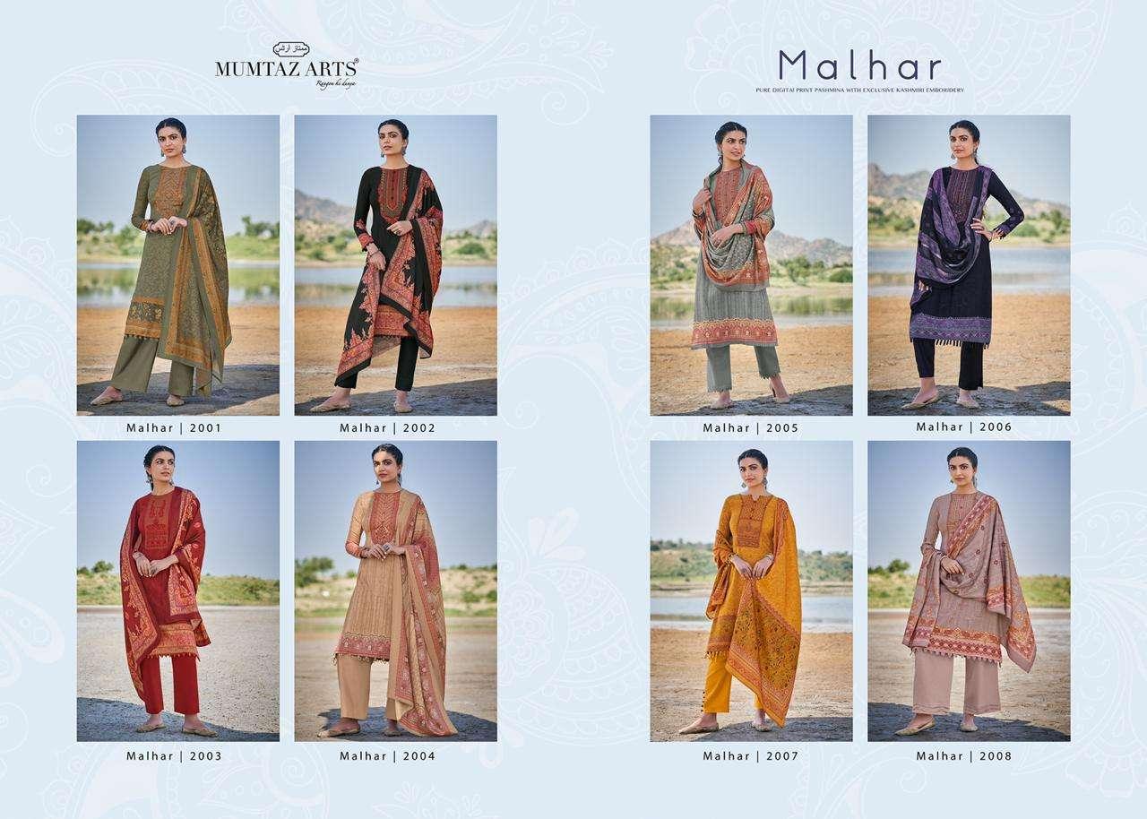 Mumtaz Arts Malhar Jam Satin Suits With Kashmiri Work
