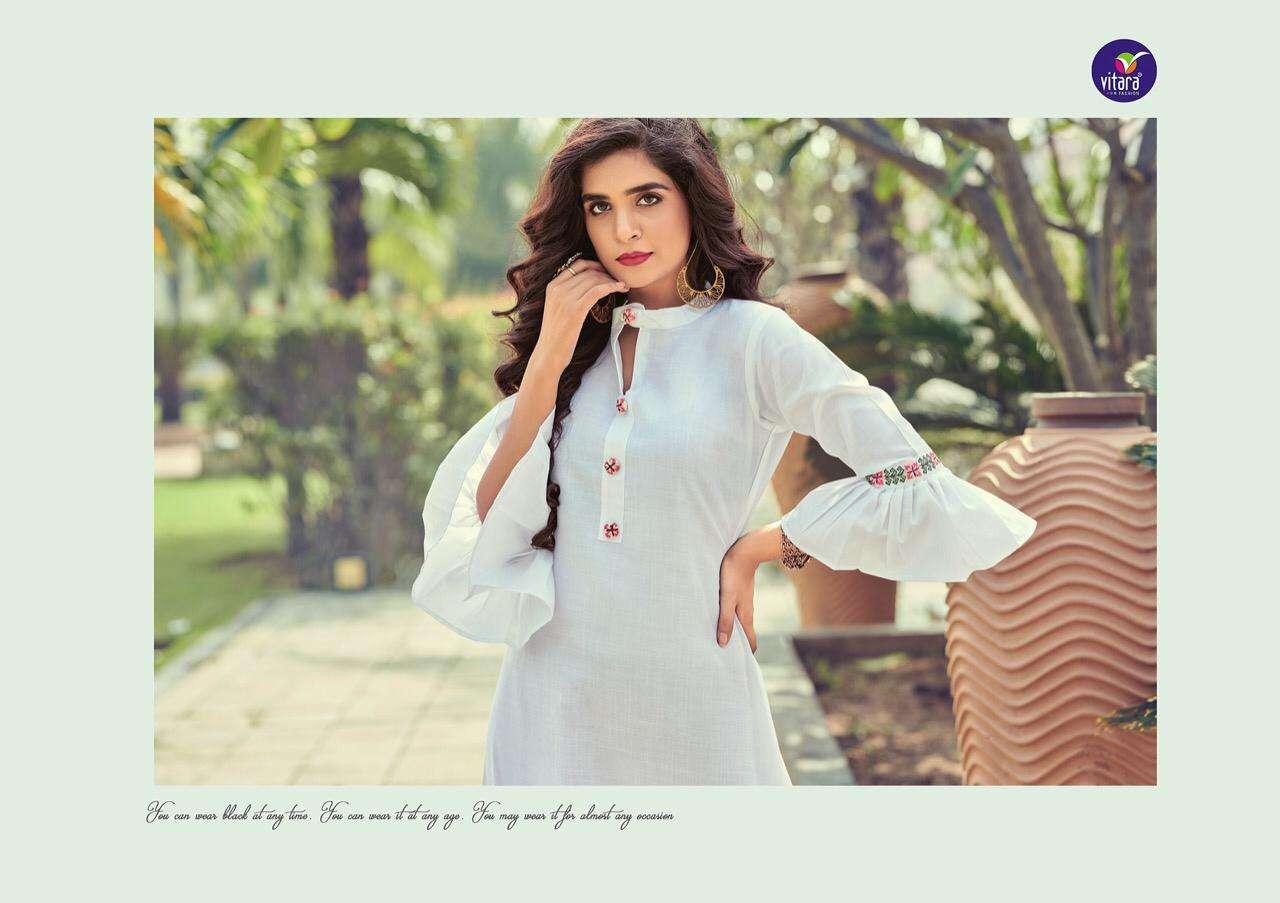 Vitara Benchmark Cotton Fancy Kurti Designs Dealer