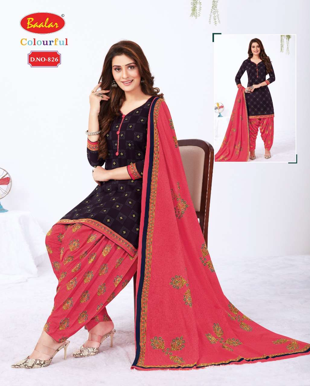 Baalar Colourful Vol 8 Cotton Printed Suits Dealer
