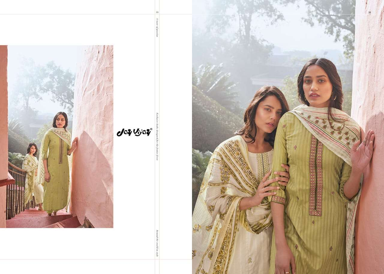 Jay Vijay Summer rage Embroidery Cotton Suit Collection at Best rate
