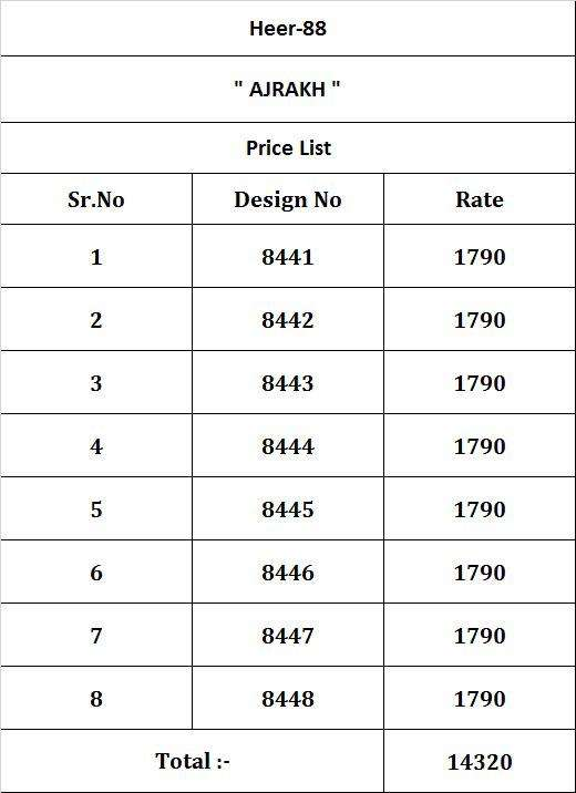 Kimora Heer Ajrakh Designer Cotton Salwar Kameez Supplier