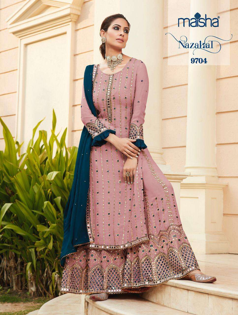 Maisha Nazakat Heavy Georgette Palazzo Style Suits Dealer