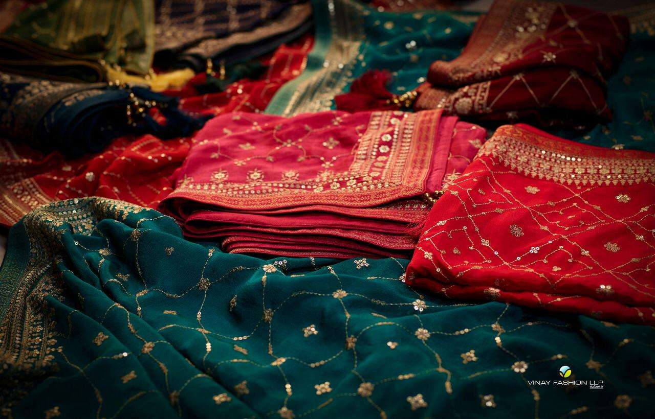 Vinay Kaseesh Season Embroidered Muslin Salwar Suit Collection