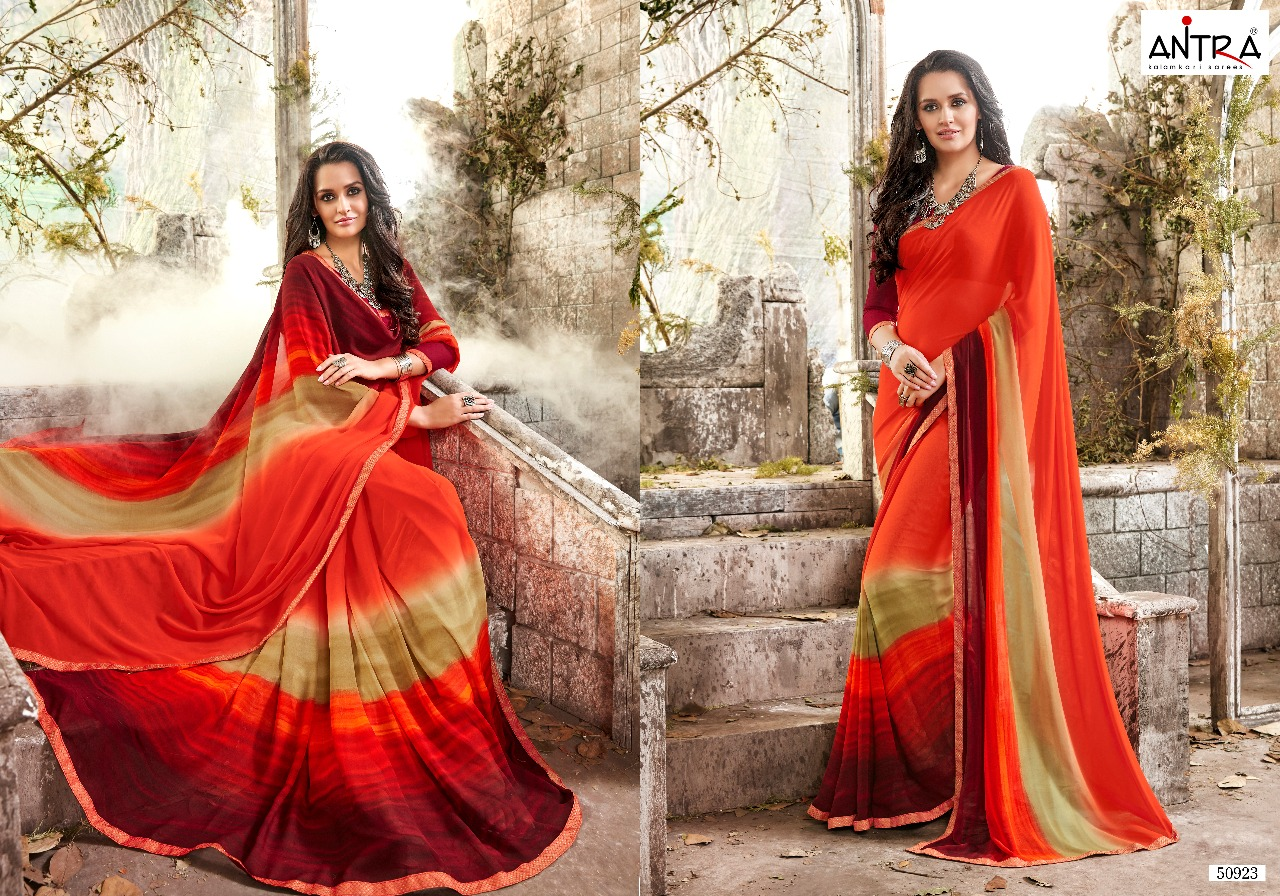 Antra fiona daily wear printed saree catalog in wholesale