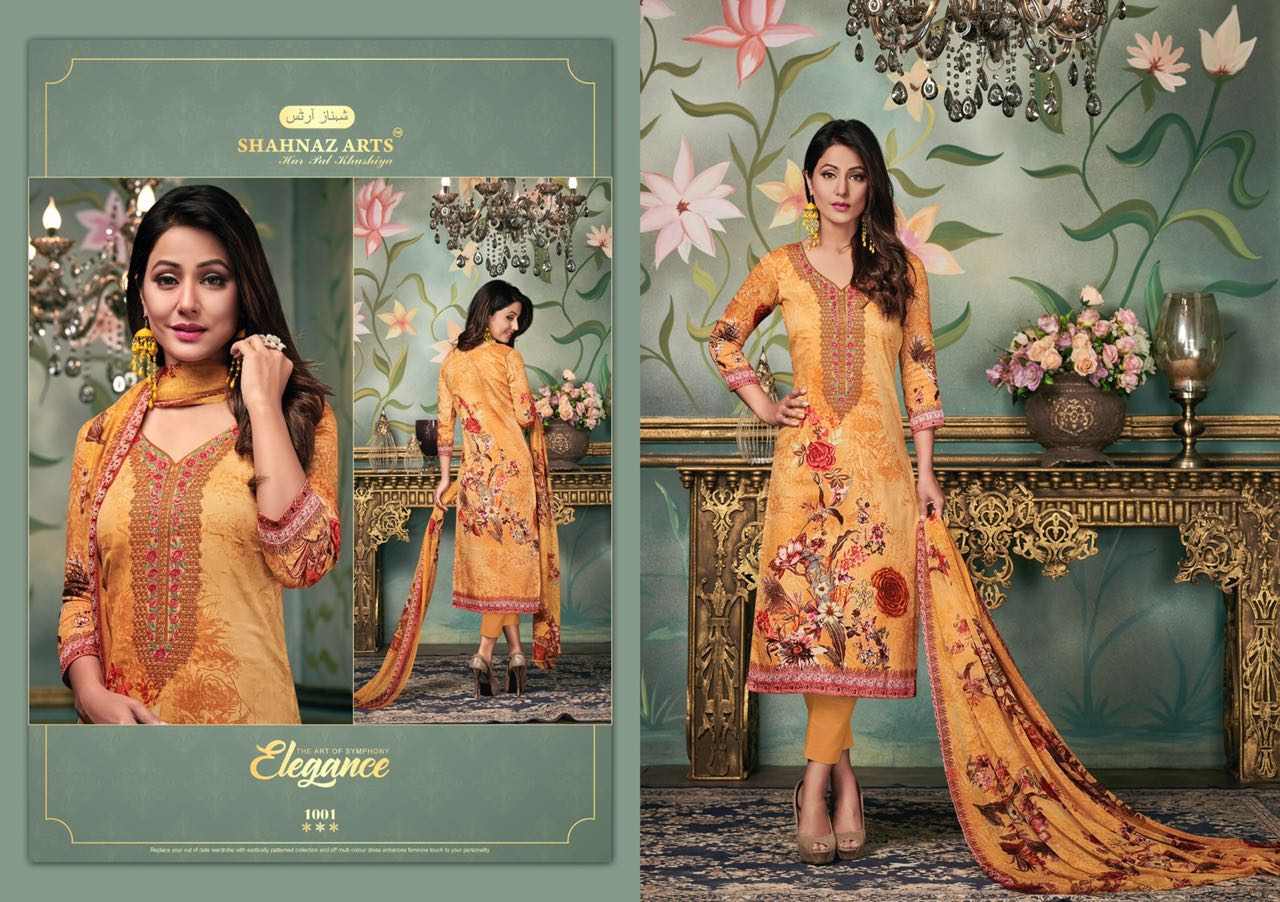 Shahnaz arts alifaa cotton pribted salwar suit wholesale supplier