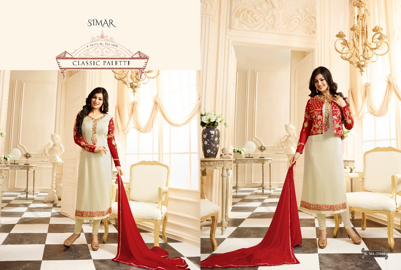 Glossy simar suzen Party wear koti style salwar suit wholesaler