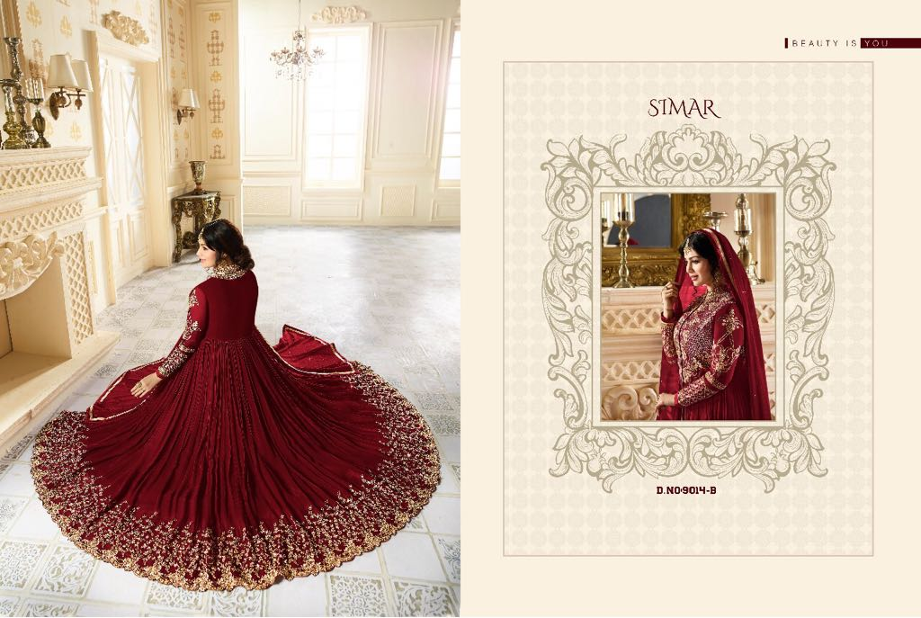 Glossy color plus 9014 colors Anarkali dress Catalog in wholesale