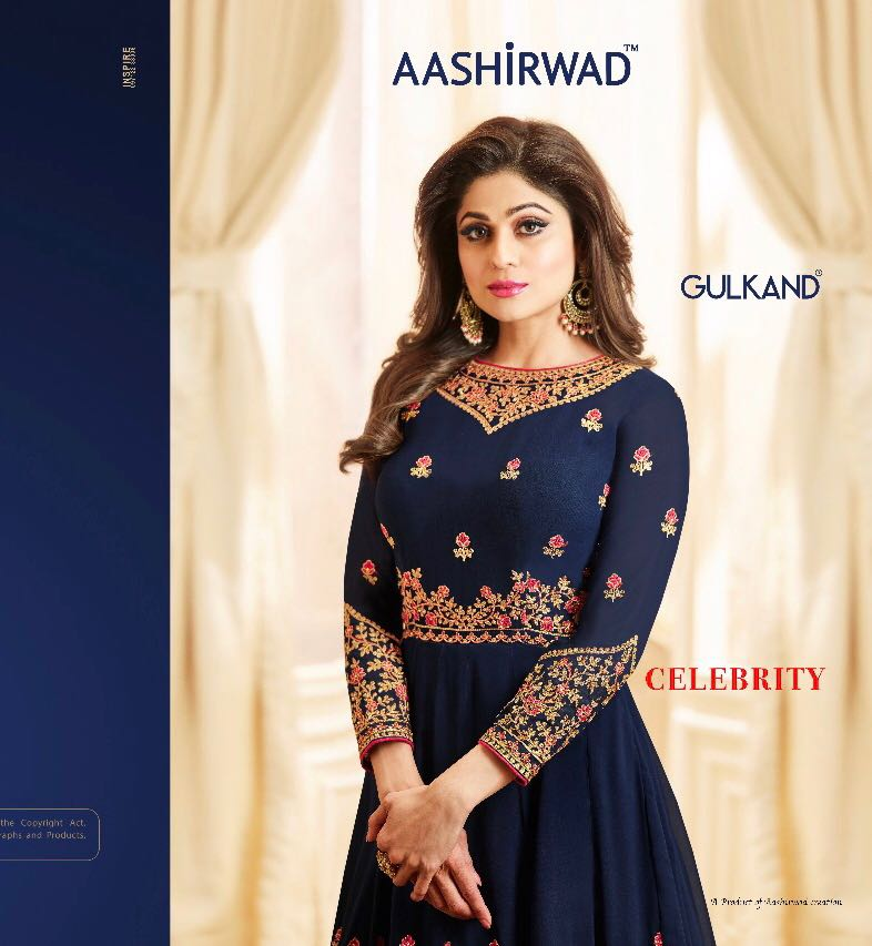 Ashirwad creation celebrity designer gown style long dress catalog wholesale best price