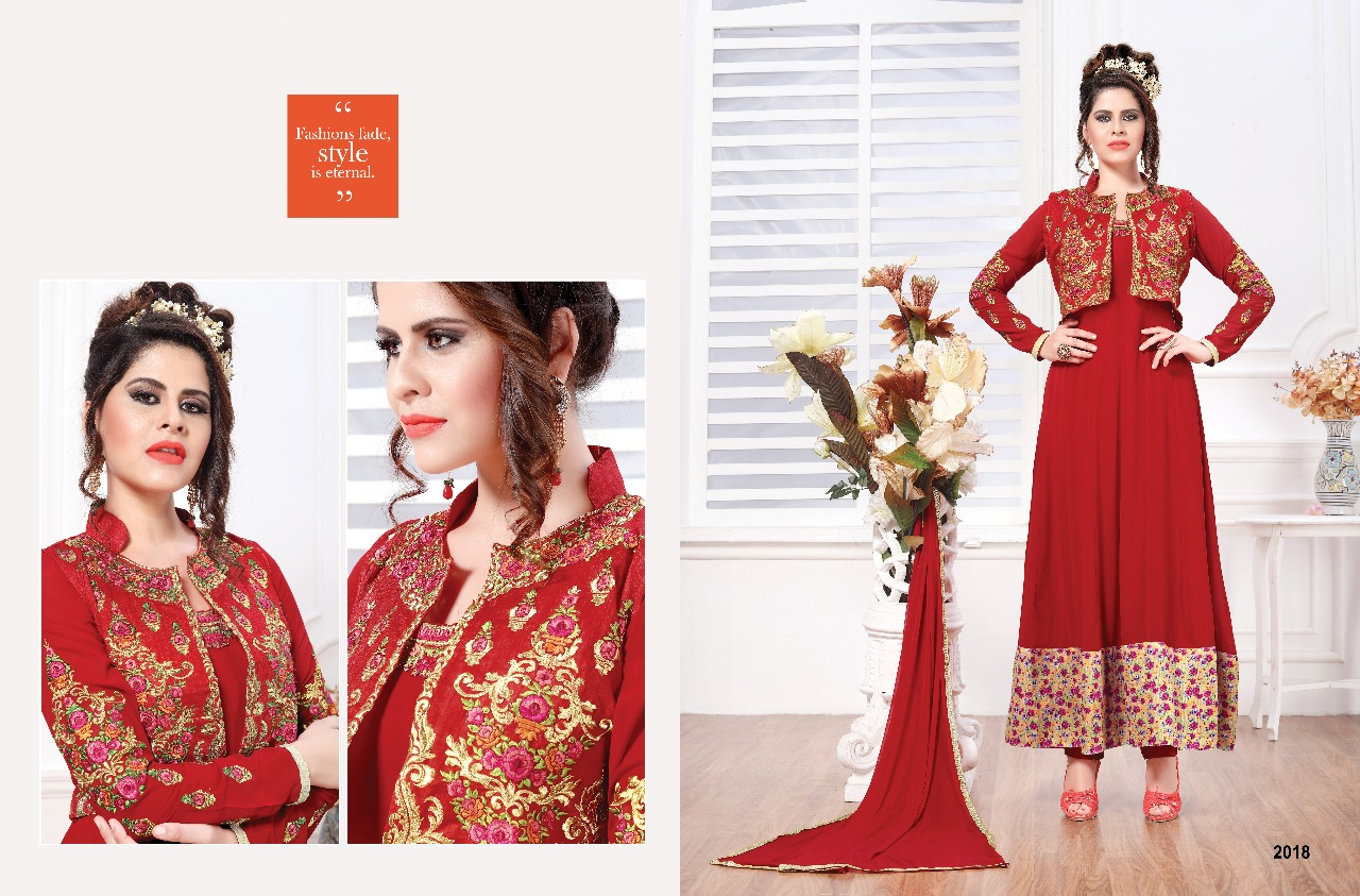 Ishu trends mihira full kali style suit Wholesaler best price
