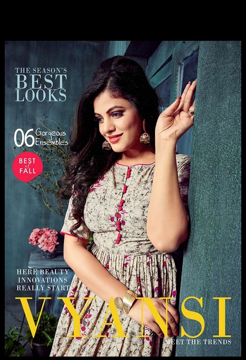 Amore vyansi vol 1 Cotton kali style kurtis catalog best price surat