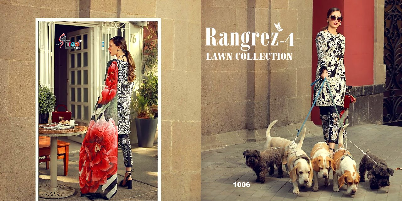 Shree fabs rangrezz vol 4 lawn collection Salwar suit Wholesaler Best Price