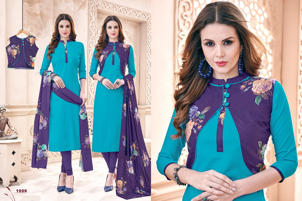 AVC blezer Kori style casual salwar suit catalog wholesale rate buy online