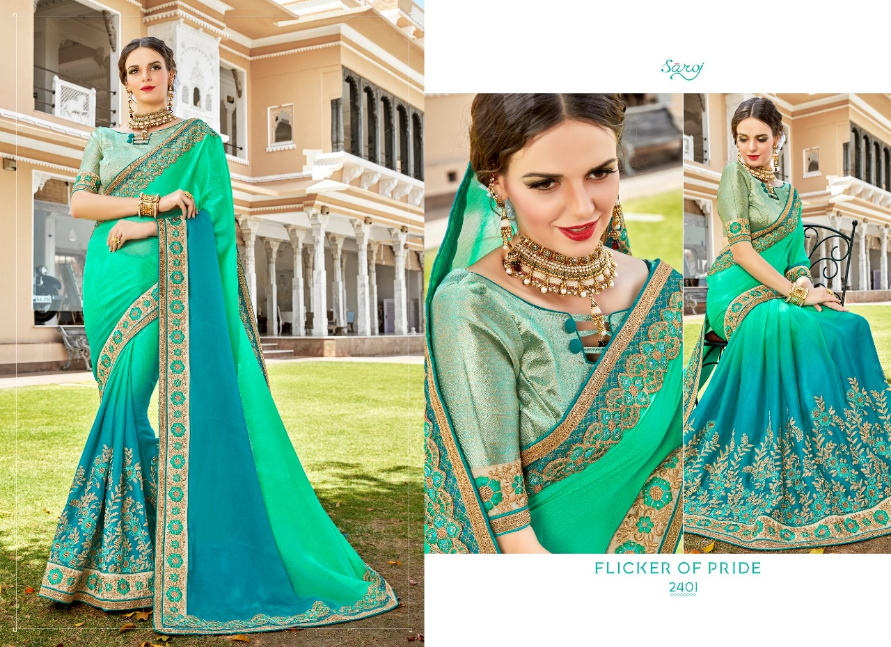 Saroj saree elegance party wear saree catalog buy at wholesale price from surat dealer
