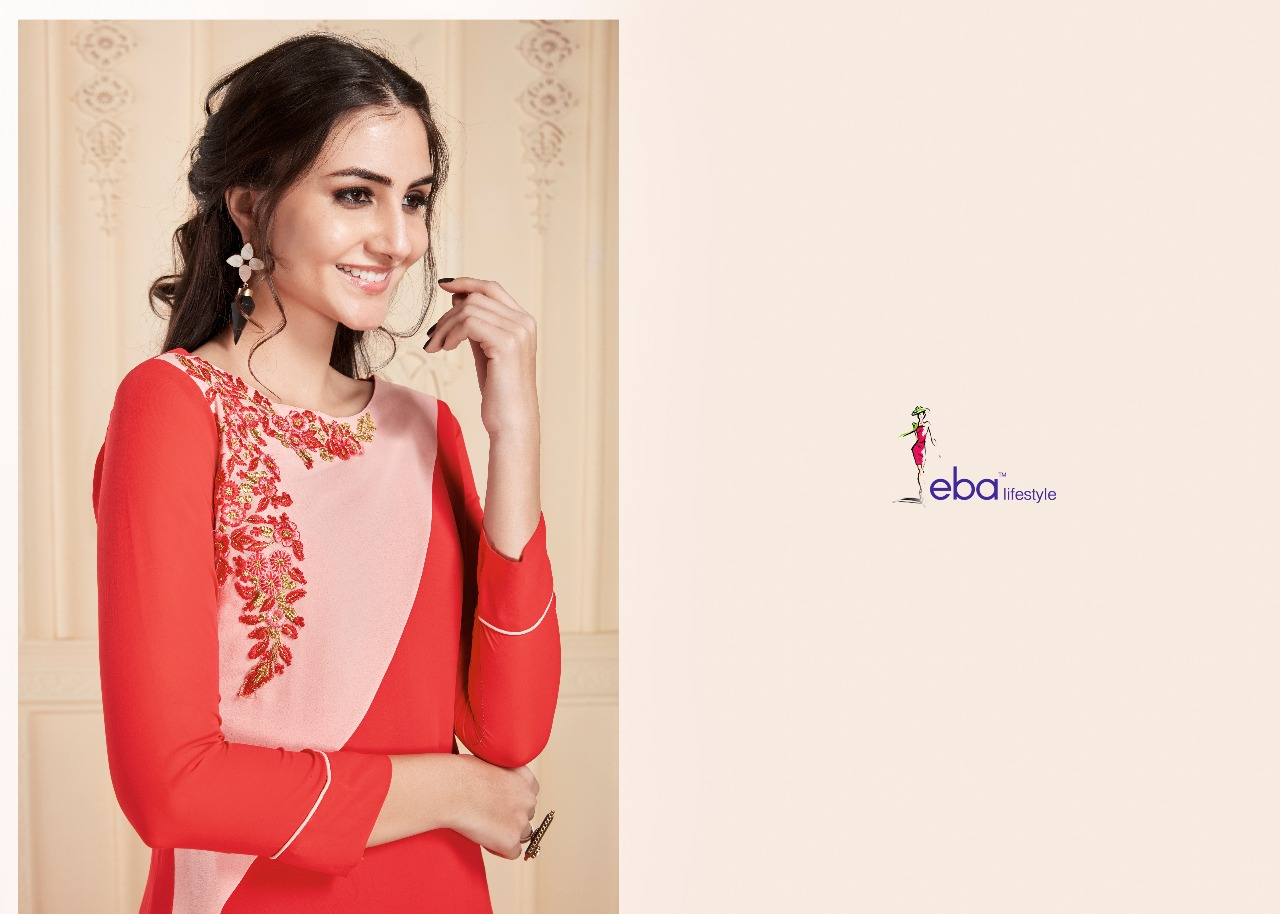 Eba vol 6 designer kurti catalog buy at wholesale rate from surat dealer