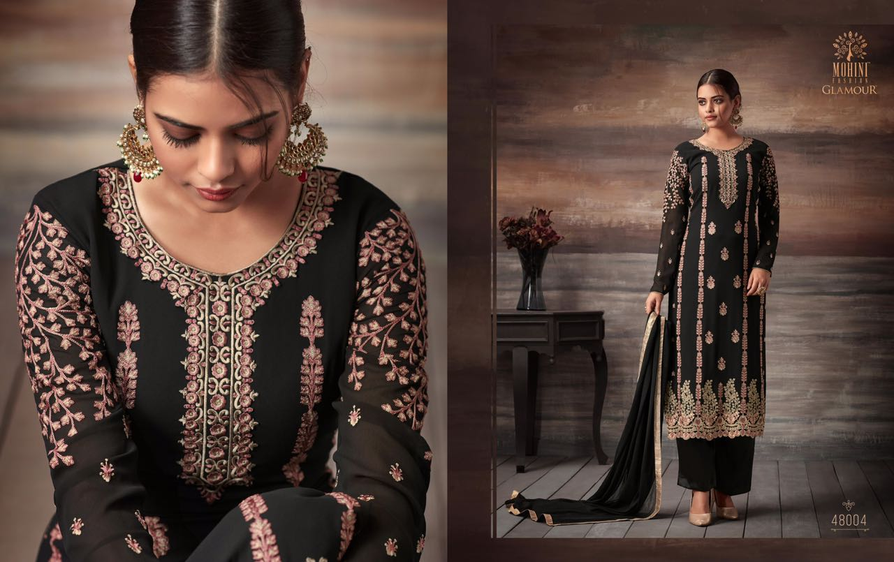 Mohini glamour 48 party wear Embroidered salwaar suit catalog surat wholesaler rate