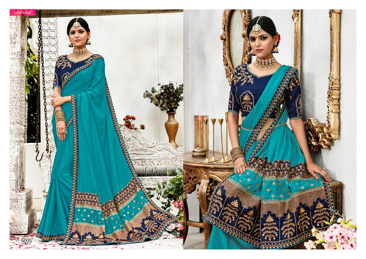 Mintorsi virasat party wear Saree catalog buy from surat wholesale rate