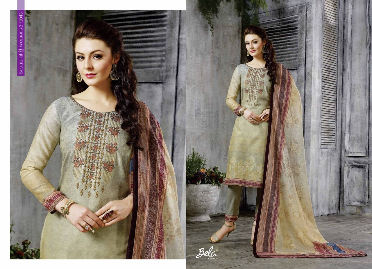 Bela fashion beautiful woman Vol 2 fancy chanderi dress material catalog supplier surat