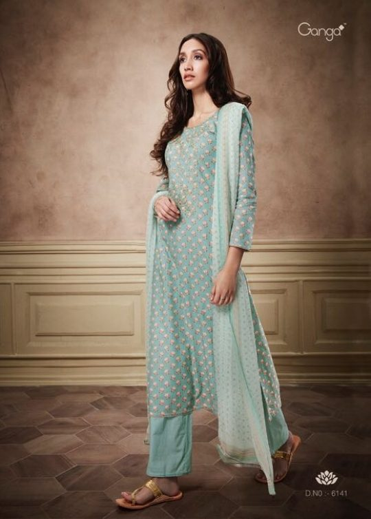1ac283e267 Ganga presents nyra cotton salwaar suit catalog buy from wholesaler at best  price