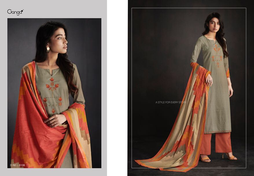 Ganga presents enaya cotton embroidered Salwaar suit catalog at best price from surat wholesaler