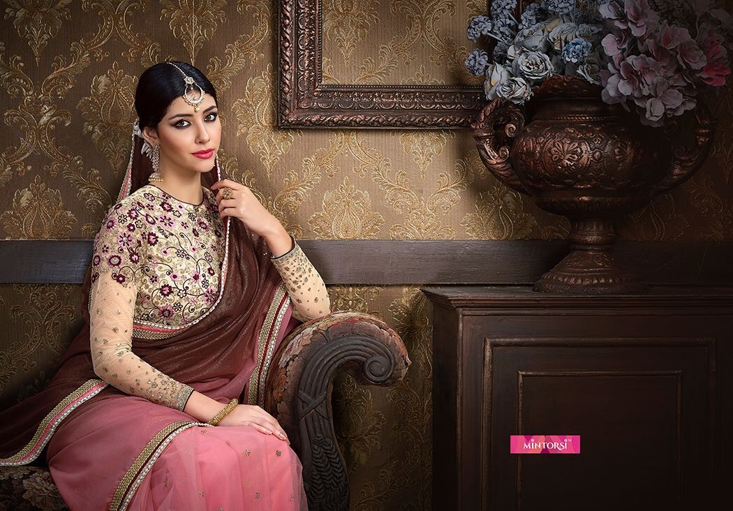 Mintorsi 3600 Series designer sarees with semi stitched close catalogs wholesale supplier surat