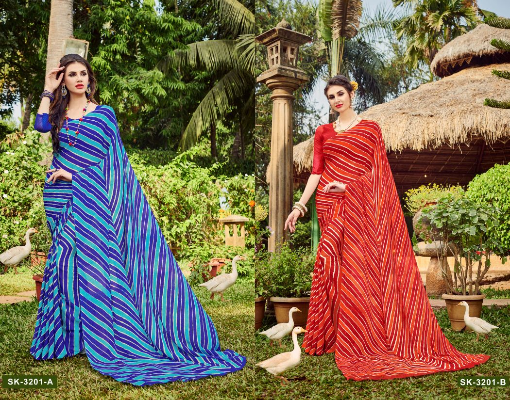 Ruchi sarees presents Chiffon vol 32 printed saree catalog buy at wholesale rate surat