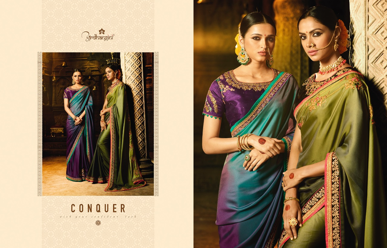 Ardhangini Shreya Designer heavy work party wear saree catalogue wholesale supplier Surat best price