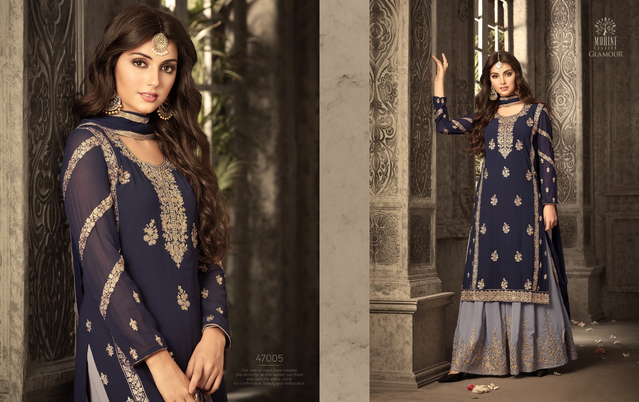 Mohini glamour 47005 colours party wear suit catalogue from surat