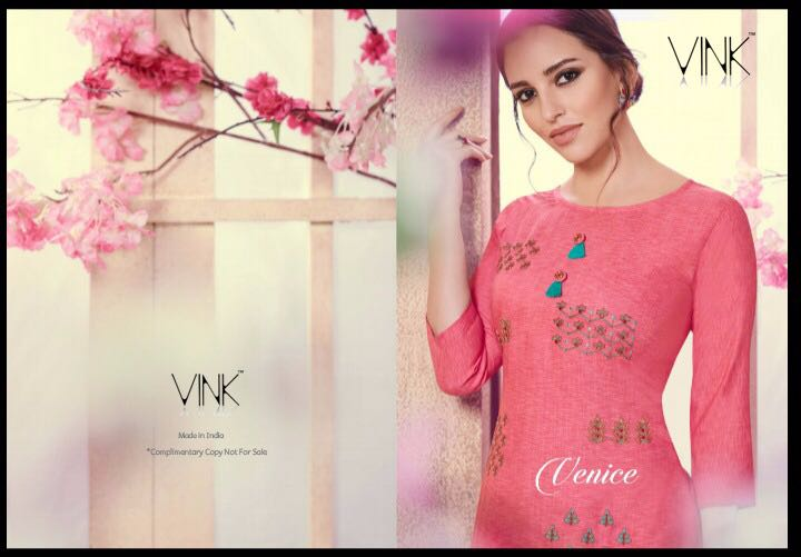 - IMG 20180803 WA0002 - Vista lifestyle Venice by vink embroidered kurti catalogue from surat wholesaler