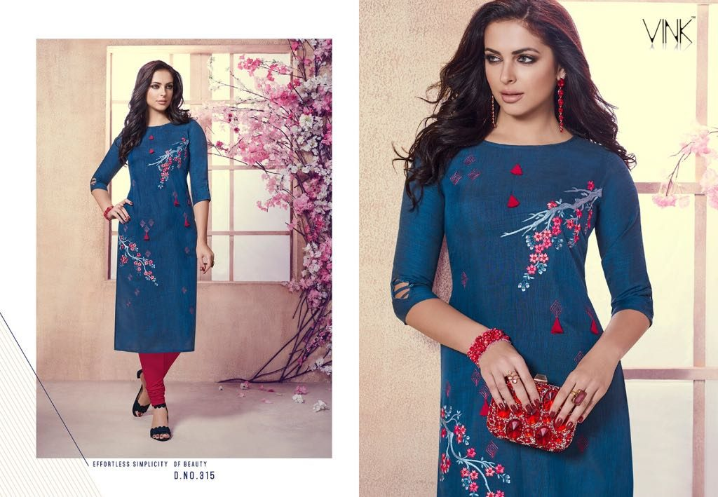 - IMG 20180803 WA0006 1024x709 - Vista lifestyle Venice by vink embroidered kurti catalogue from surat wholesaler