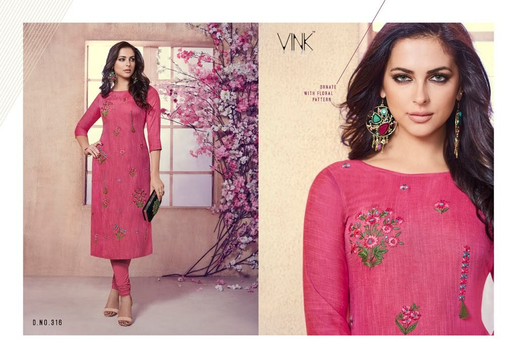 - IMG 20180803 WA0007 1024x709 - Vista lifestyle Venice by vink embroidered kurti catalogue from surat wholesaler