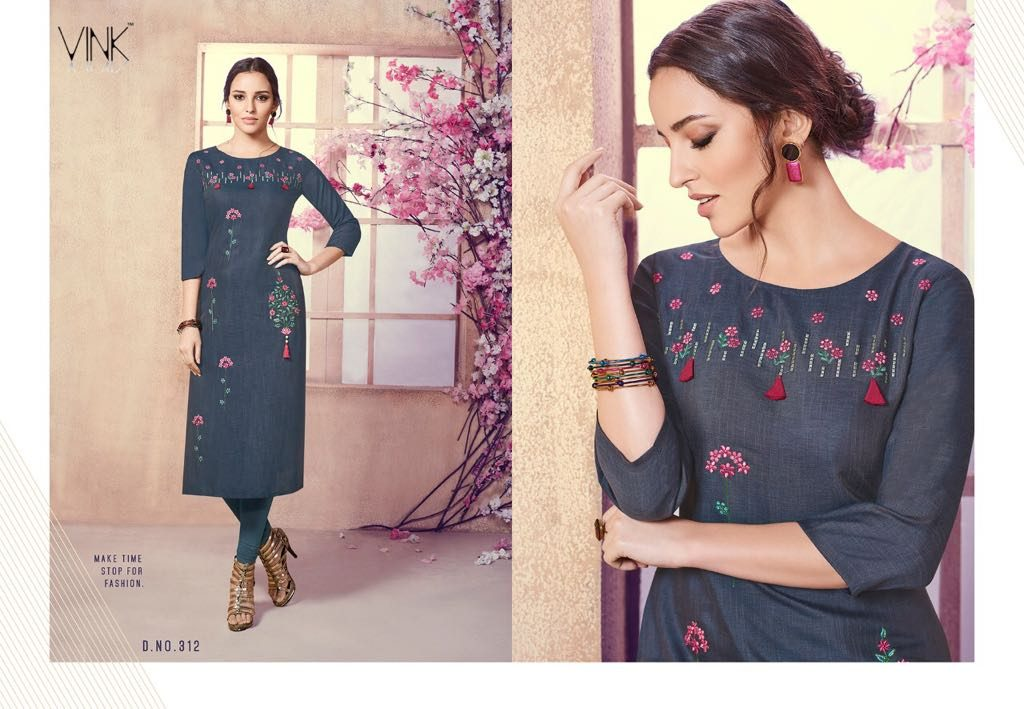 - IMG 20180803 WA0008 1024x709 - Vista lifestyle Venice by vink embroidered kurti catalogue from surat wholesaler