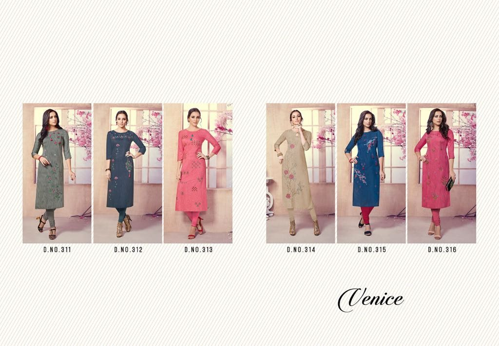 - IMG 20180803 WA0010 1024x709 - Vista lifestyle Venice by vink embroidered kurti catalogue from surat wholesaler
