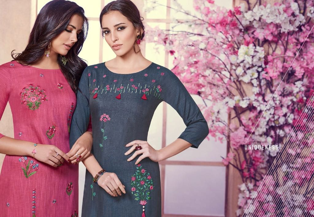 - IMG 20180803 WA0011 1024x709 - Vista lifestyle Venice by vink embroidered kurti catalogue from surat wholesaler