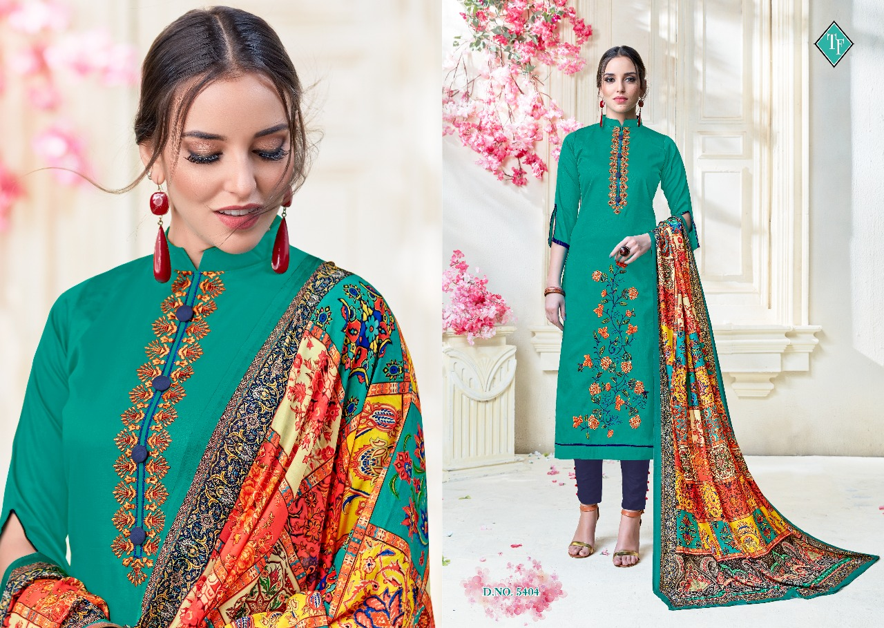 Tanishk fashion Bitcoin vol 2 embroidered cotton salwar Kameez catalogue wholesale supplier surat