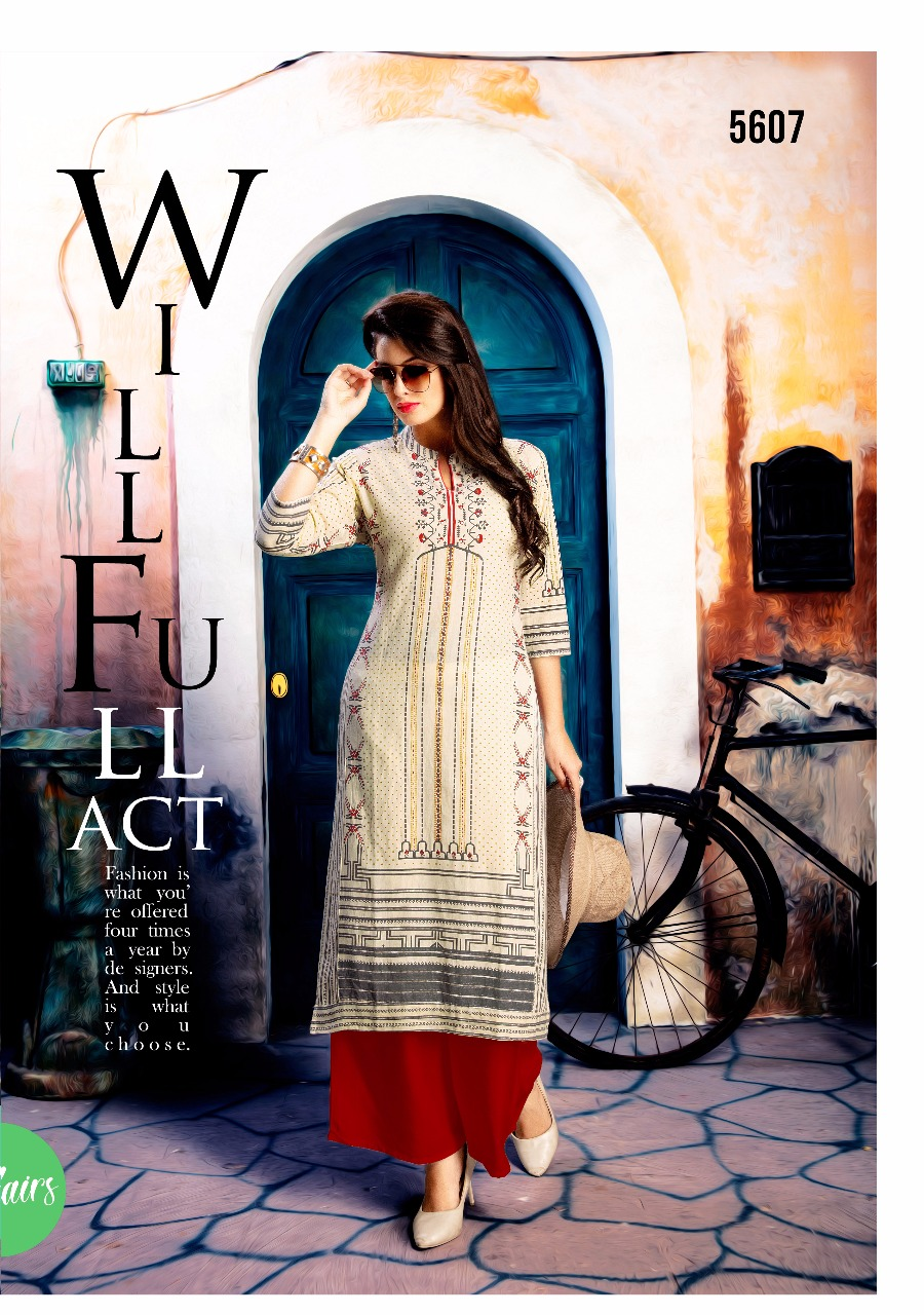 Vesh Eclairs embroidered Kurti catalogue from Surat Wholesaler at best lrice5