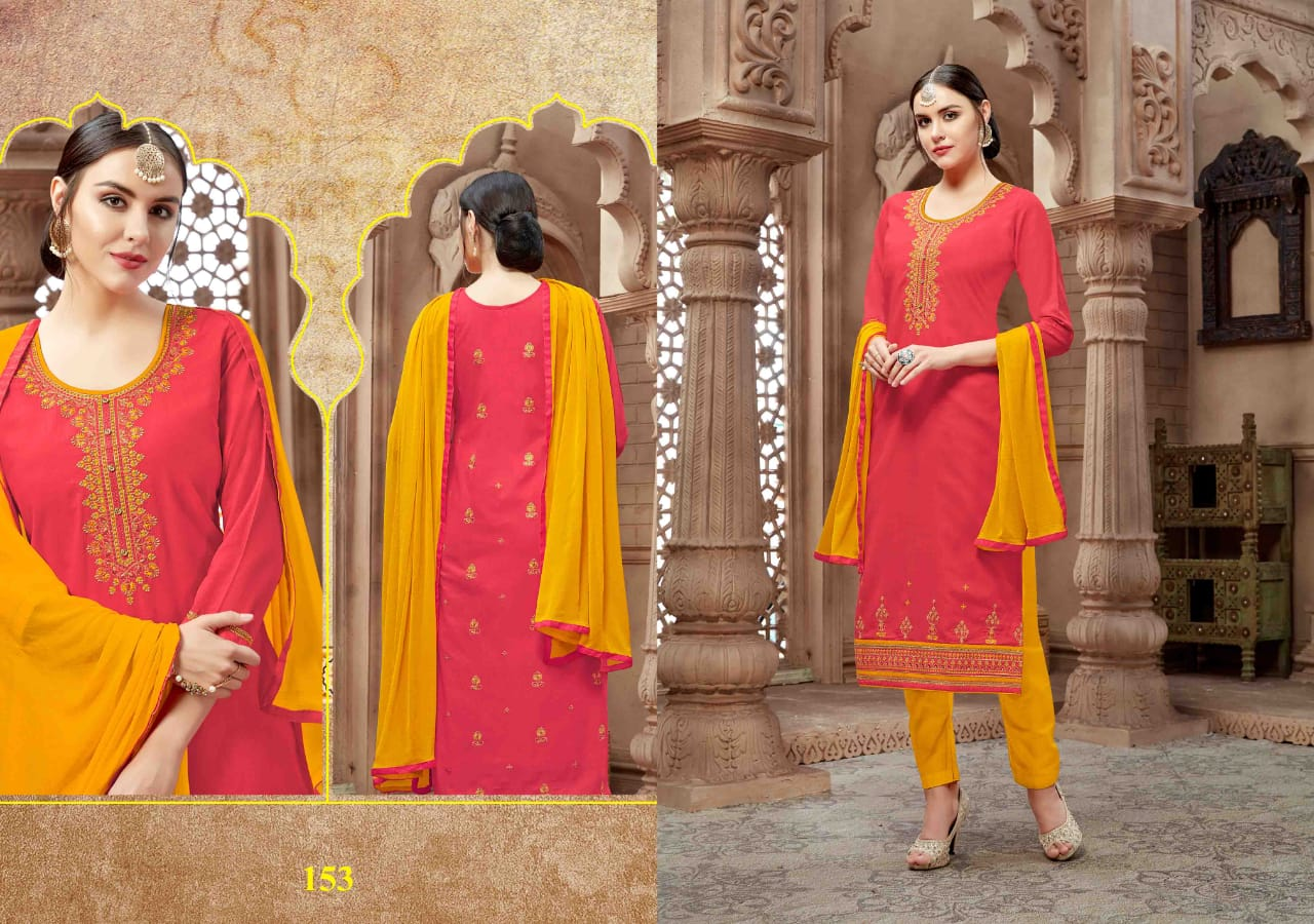 Kalarang sparkle cotton salwaar suit catalogue from surat wholesaler