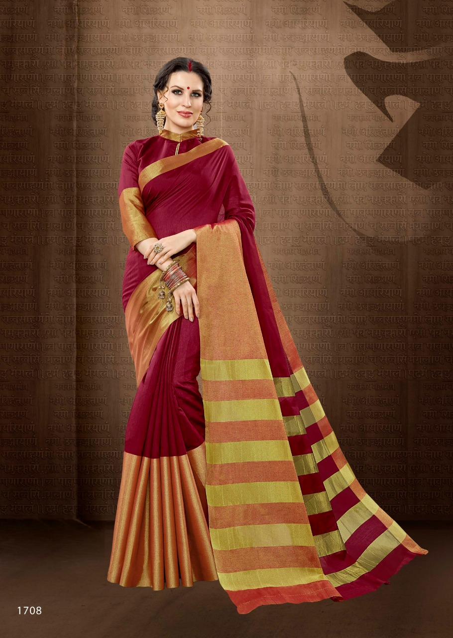 Hitansh roop sangam handloom saree catalogue from surat wholesaler