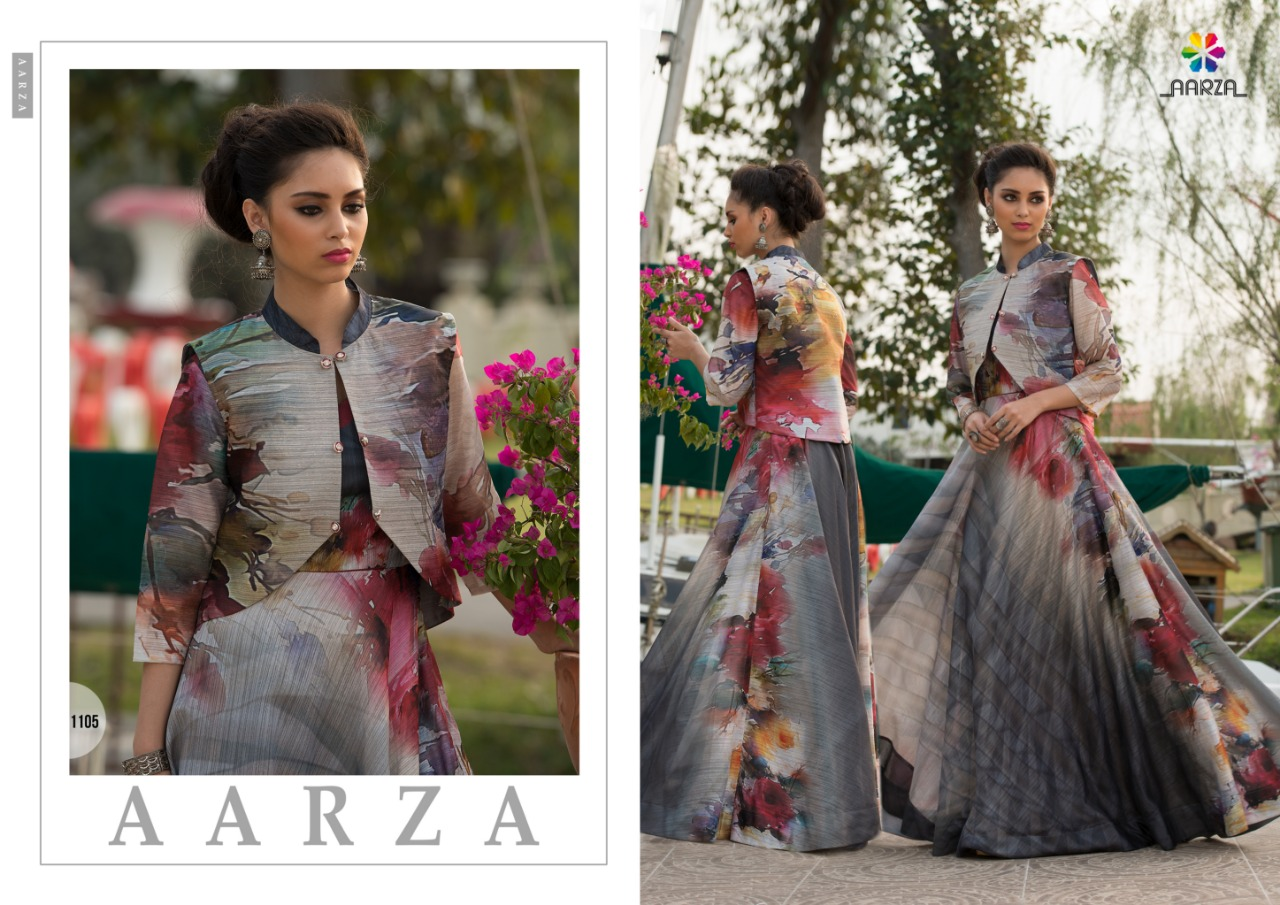 Aarza catwalk party wear gown catalogue from surat wholesaler