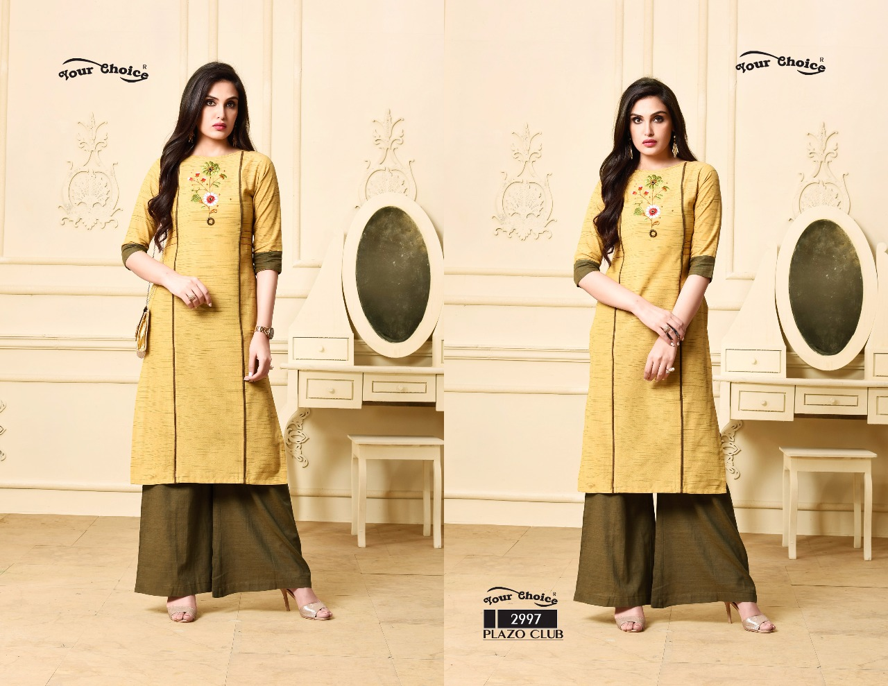 Your choice plazo clube Plazzo set with kurti catalogue in wholesale price surat