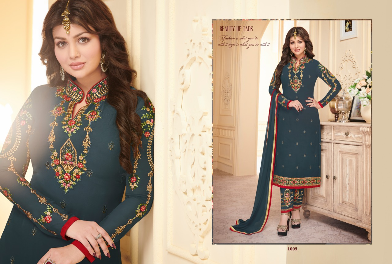 d8e19d6294 IMG 20180908 WA0036 1024x690 - Sara trends bloomeri Party wear straight salwar  suit catalogue in