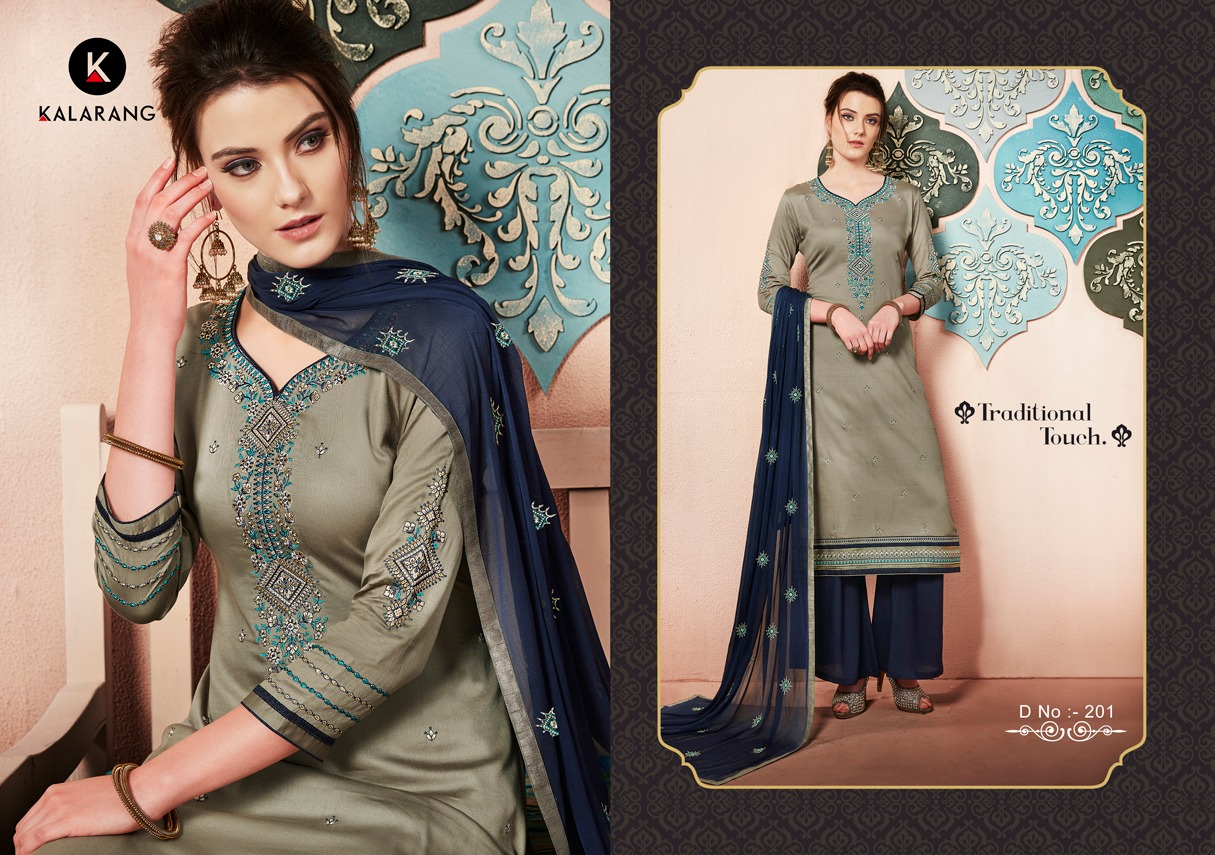 Kalarang Traditional Jam Silk Salwaar Suit Catalogue From Surat Wholesaler