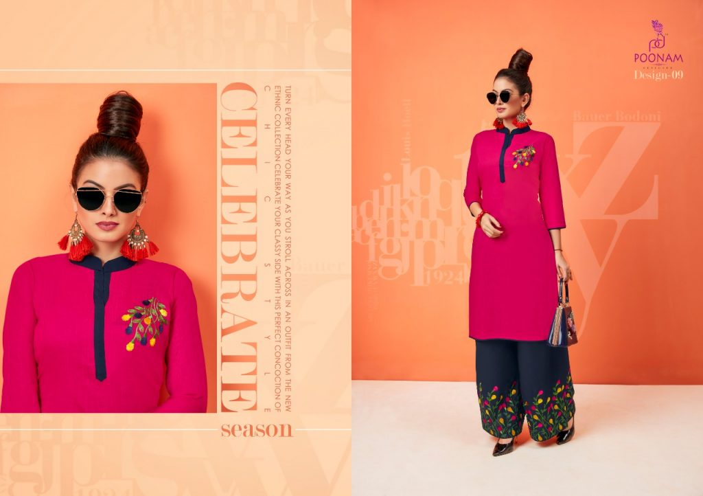 - IMG 20181001 WA0330 1024x722 - Poonam designer plazzo house vol 2 Embroidered plazzo kurtis set Catalog wholesaler surat