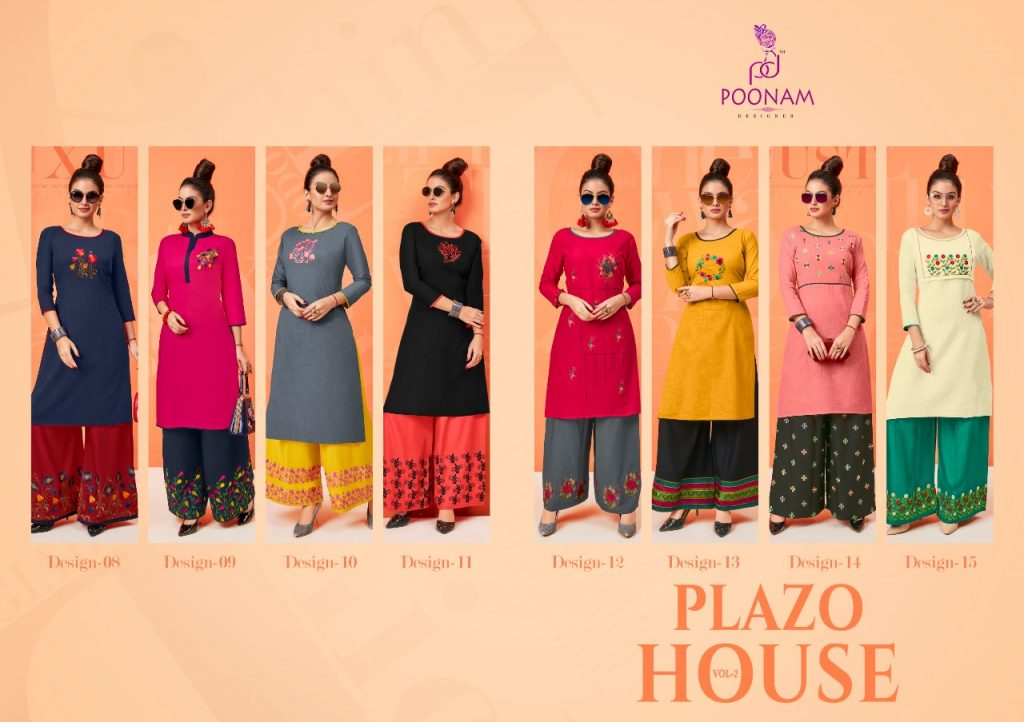 - IMG 20181001 WA0334 1024x722 - Poonam designer plazzo house vol 2 Embroidered plazzo kurtis set Catalog wholesaler surat