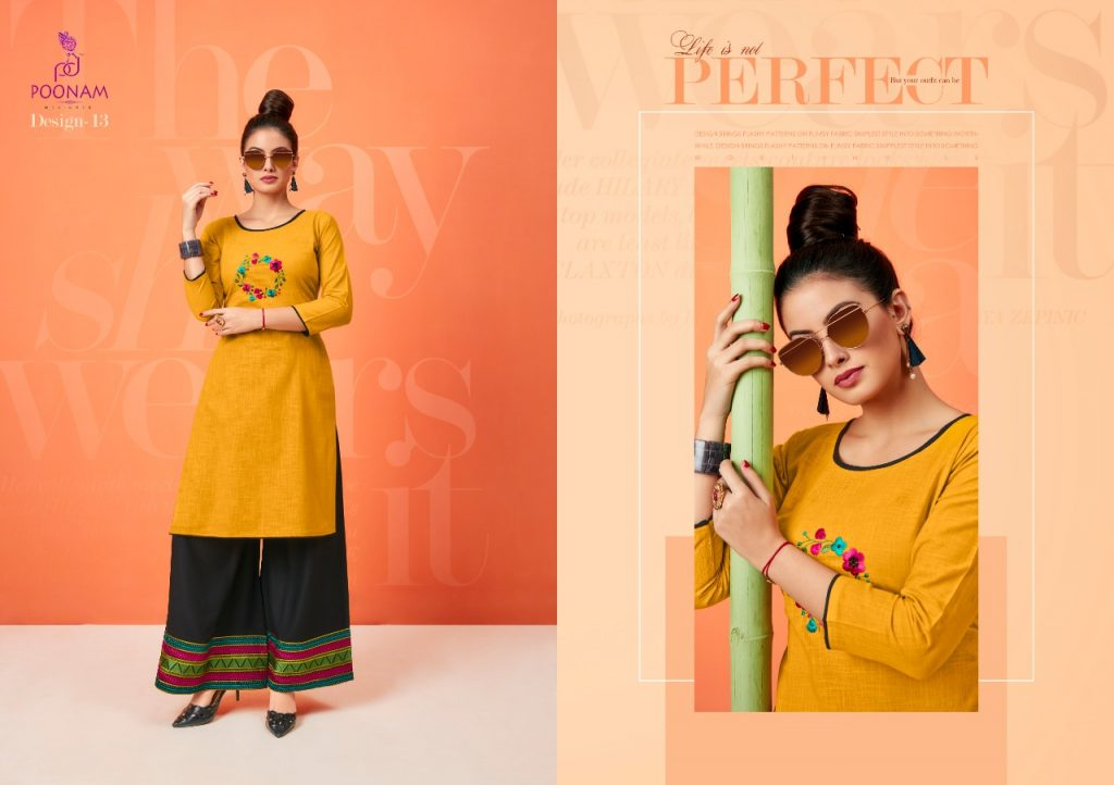 - IMG 20181001 WA0336 1024x722 - Poonam designer plazzo house vol 2 Embroidered plazzo kurtis set Catalog wholesaler surat