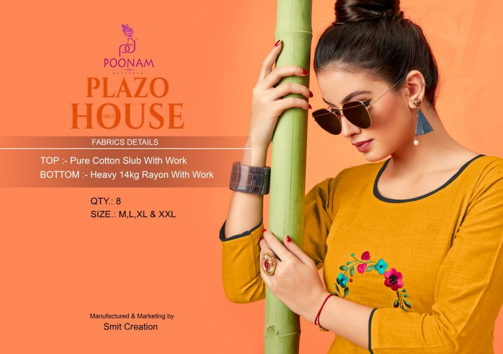- IMG 20181001 WA0337 1024x722 - Poonam designer plazzo house vol 2 Embroidered plazzo kurtis set Catalog wholesaler surat