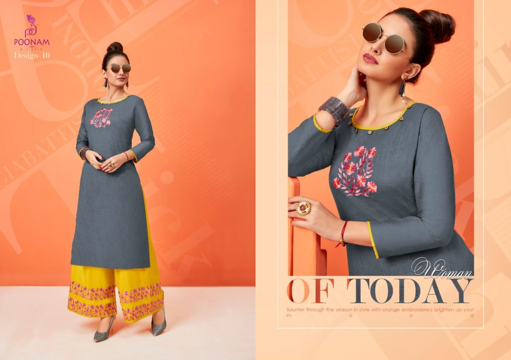 - IMG 20181001 WA0338 1024x722 - Poonam designer plazzo house vol 2 Embroidered plazzo kurtis set Catalog wholesaler surat
