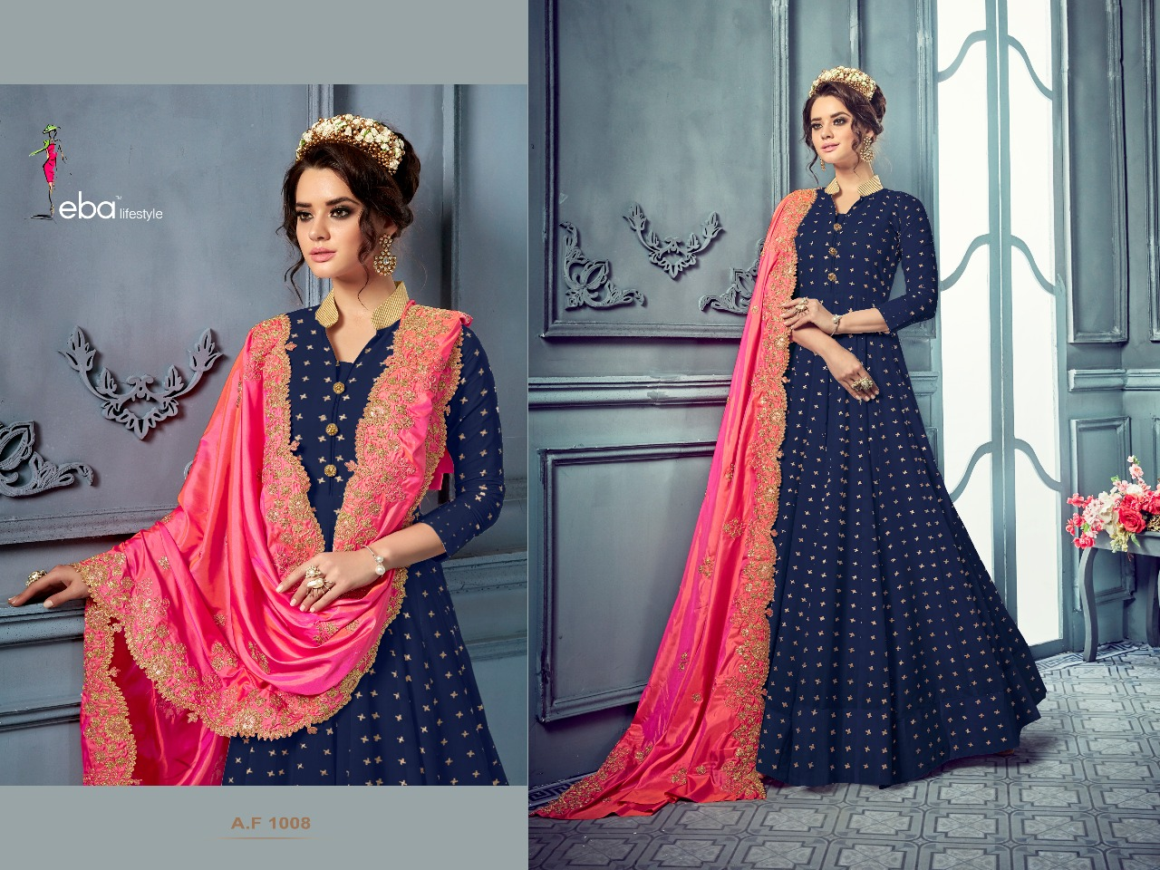Eba lifestyle AF 1008 New colour designer gown style readymade catalogue at best price surat