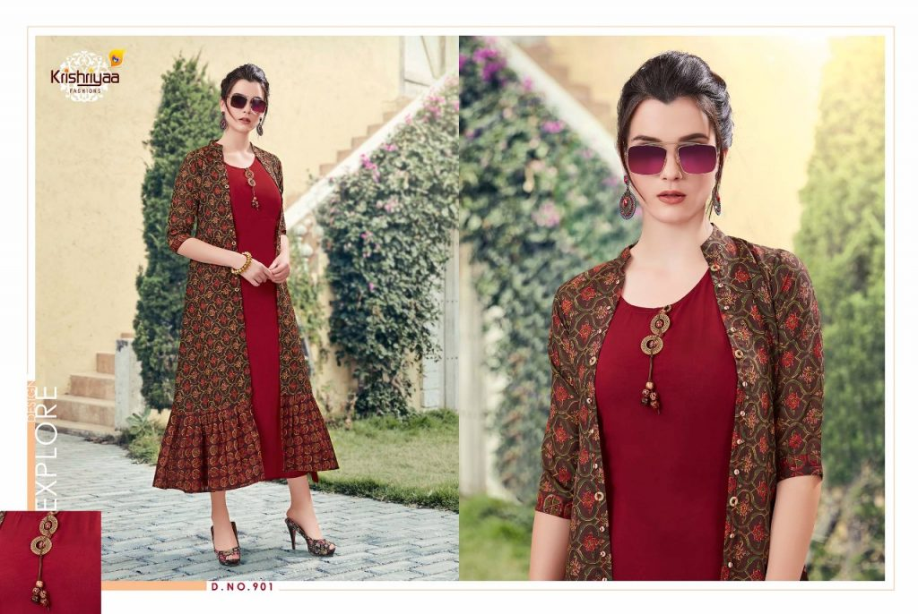 - IMG 20181011 WA0256 1024x686 - Krishriya taesel two toned silk kurti catalogue from surat wholesaler